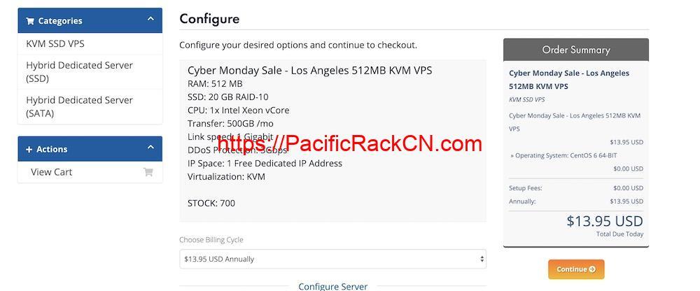 PacificRack网络星期一优惠