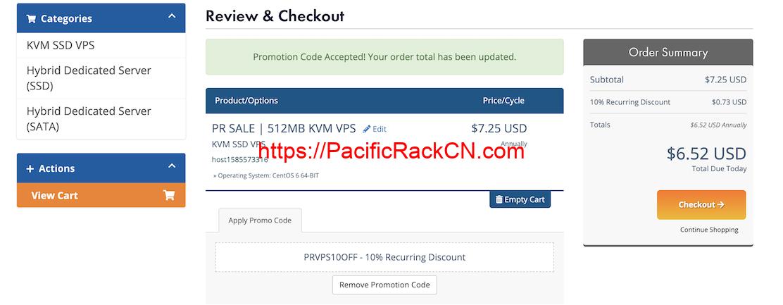 PacificRack 9折优惠码