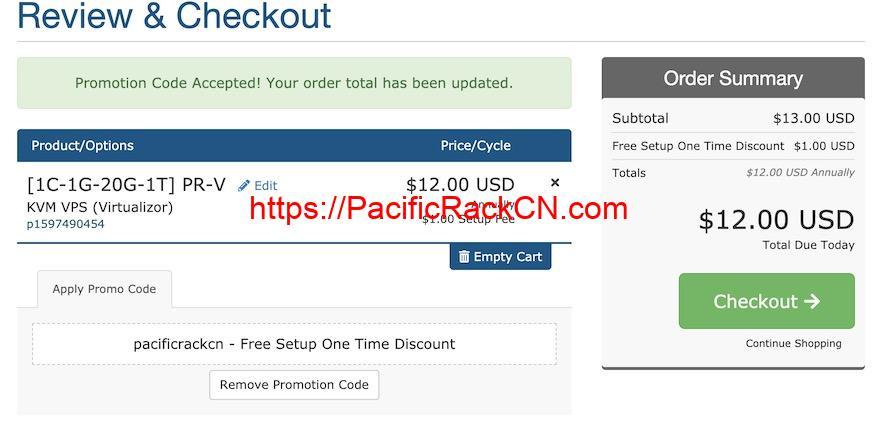 PacificRack优惠码