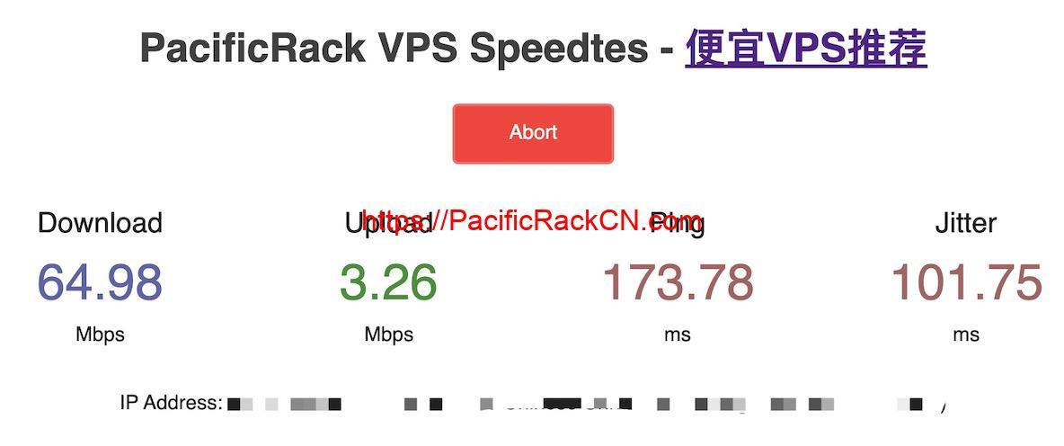 PacificRack测速网站